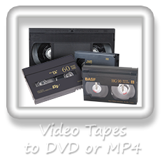 Tapes to DVD or MP4