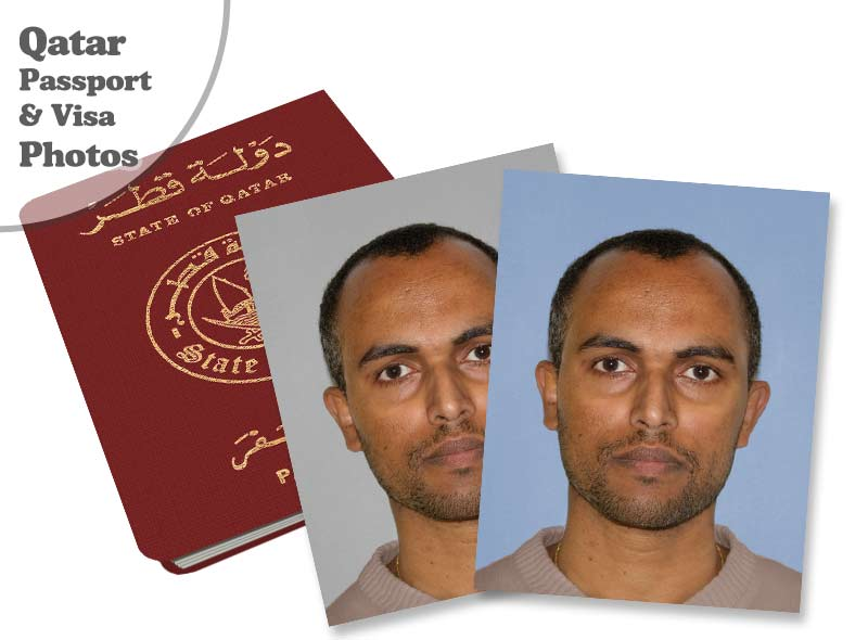 Qatar passport and visa photos | Online or at our studio