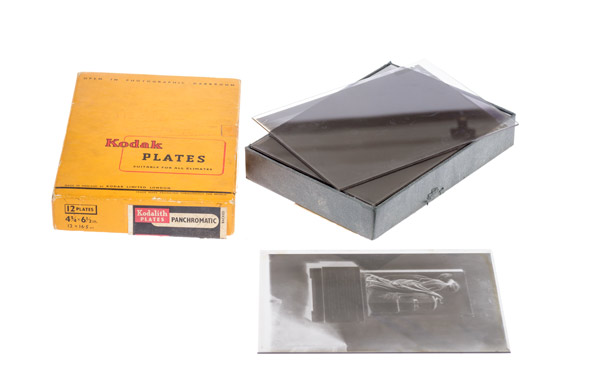 Box of Half-Plate Negatives